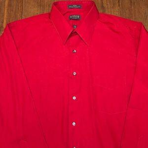 Arrow red button down dress shirt Large